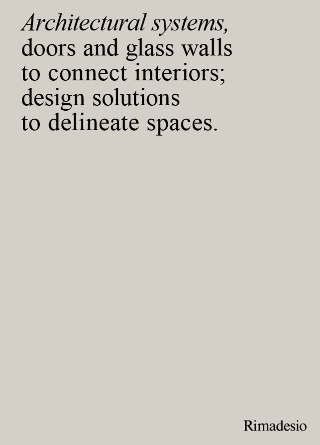 rimadesio architectural systems
