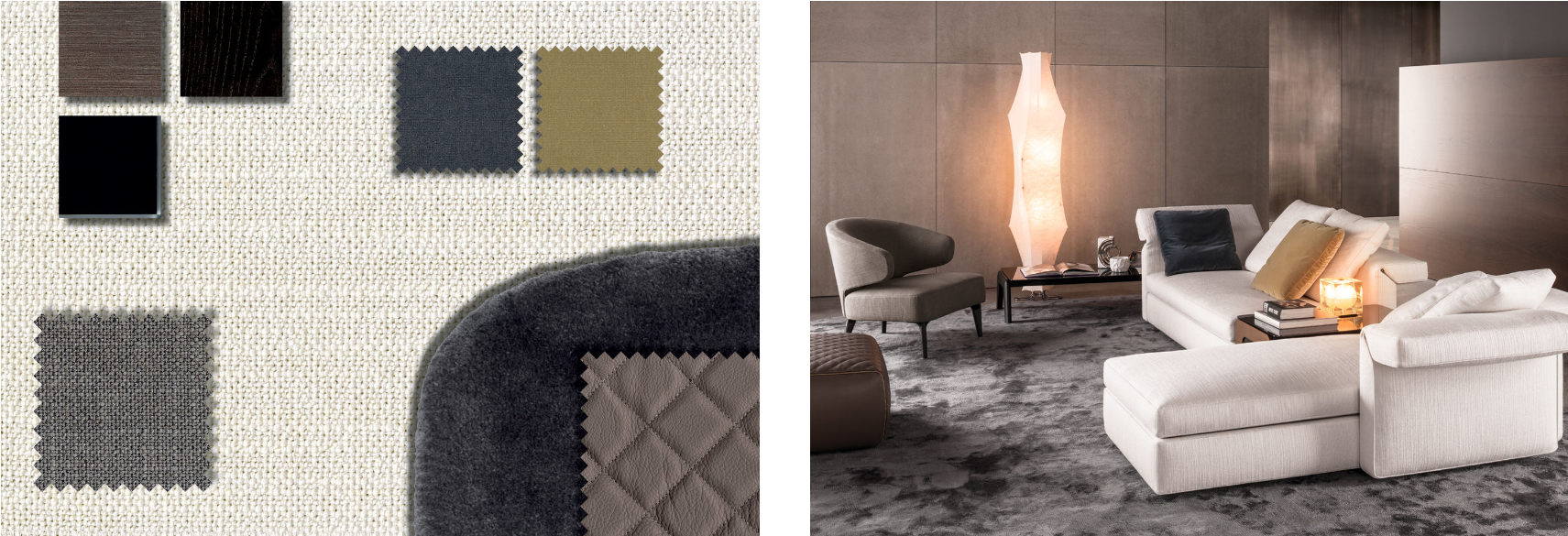 M-Studio Reiter Textil Inspiration by Minotti